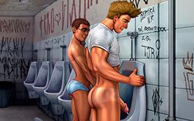 surpresa no banheiro público